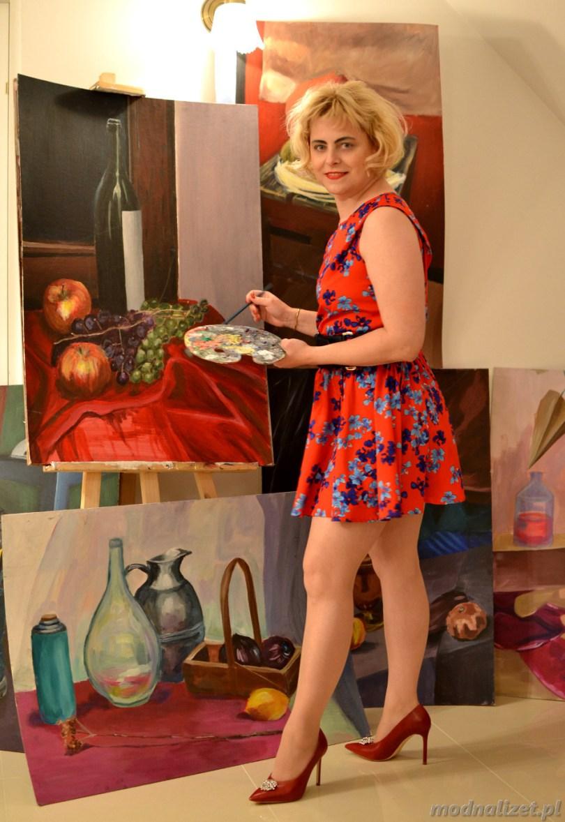 Czerwona sukienka Modna Lizet