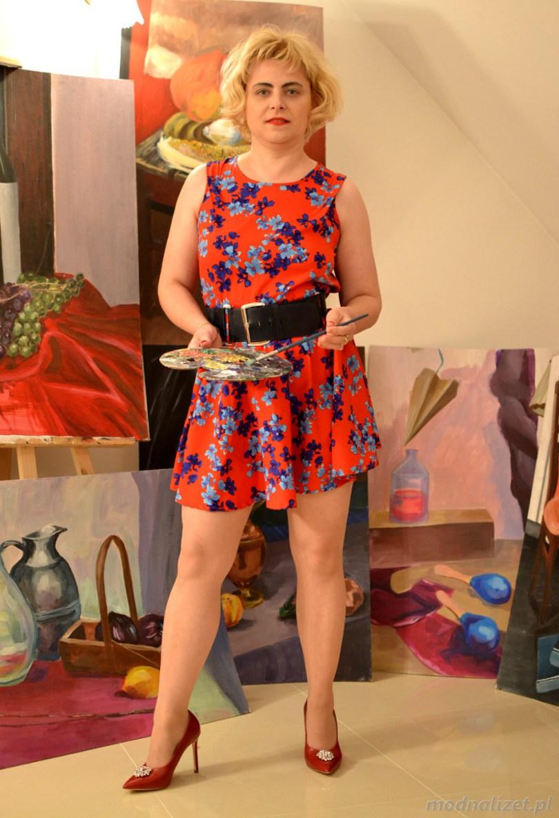Sukienka w kwiatki Modna Lizet