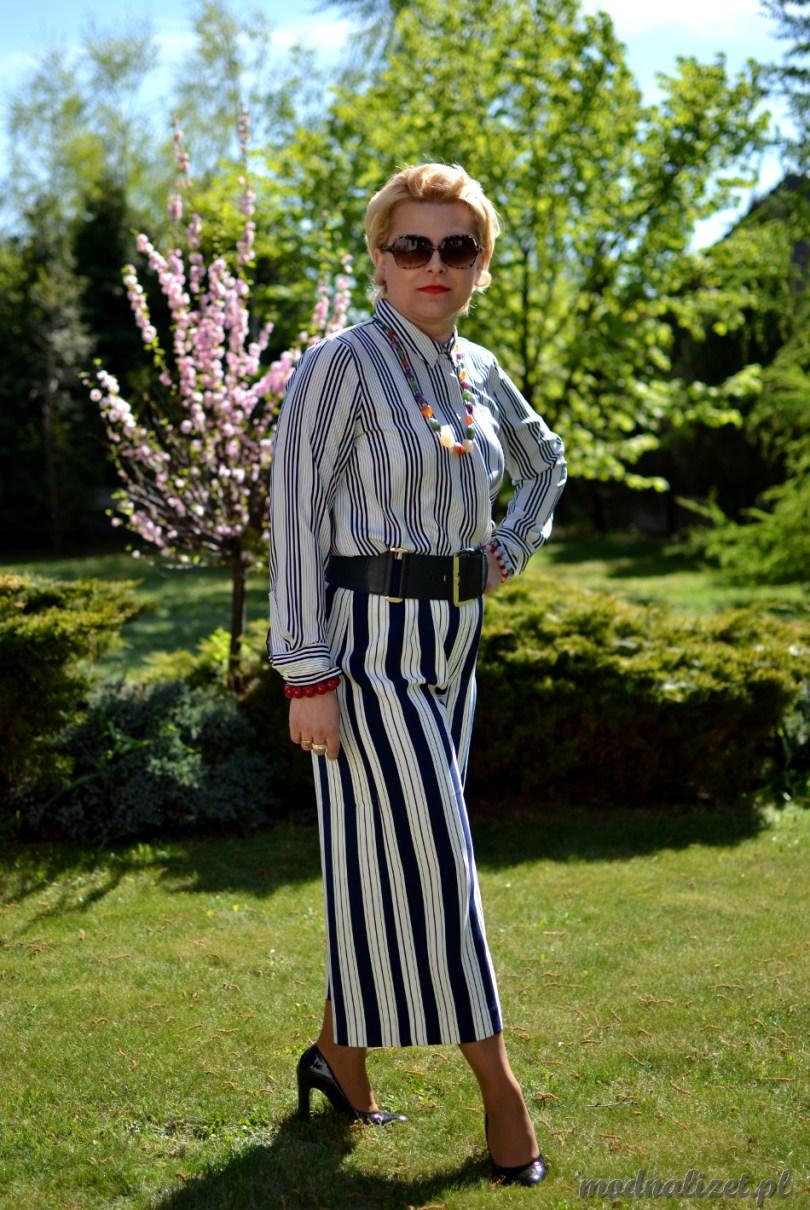 Modna Lizet spodnie w paski