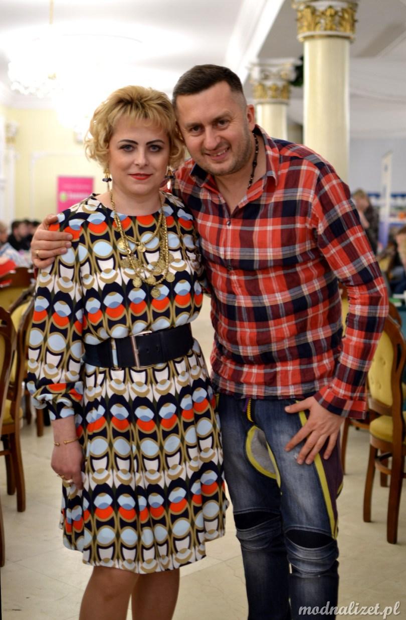 Wielobarwna sukienka norbi