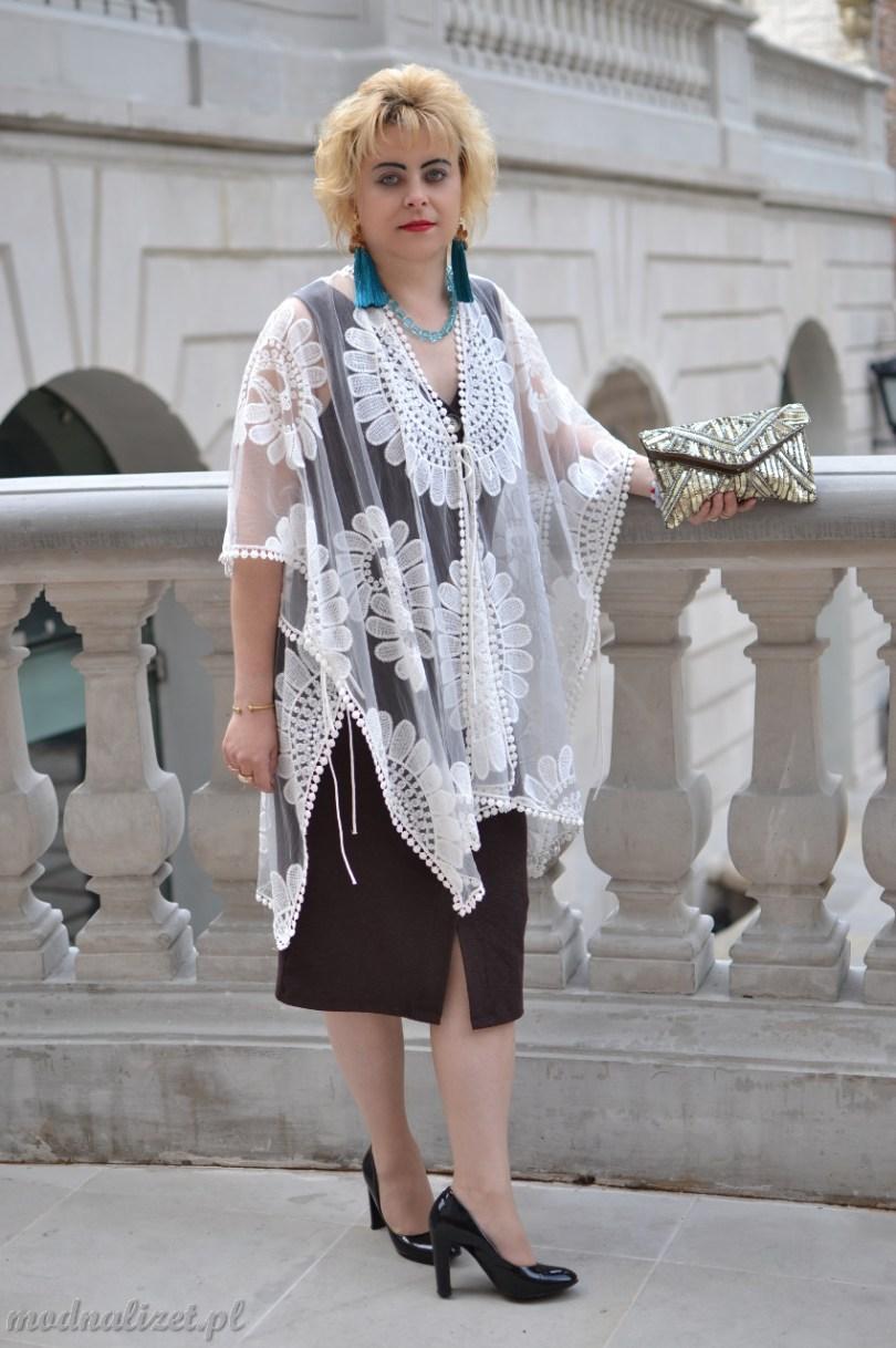 Modna Lizet brązowa sukienka