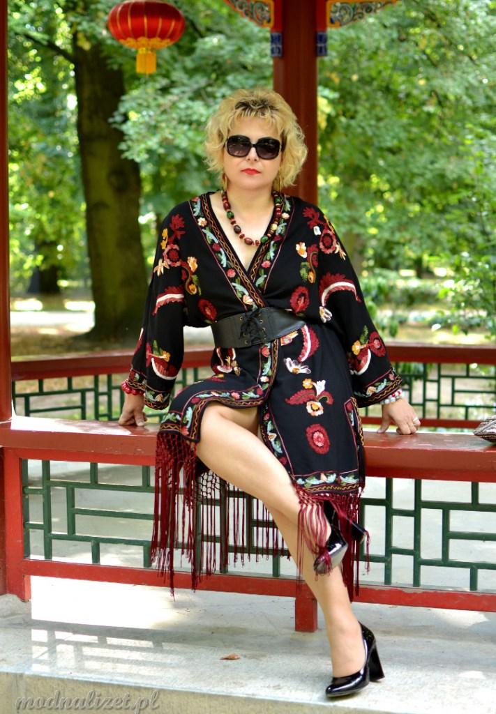 Piękne kimono kolorowe