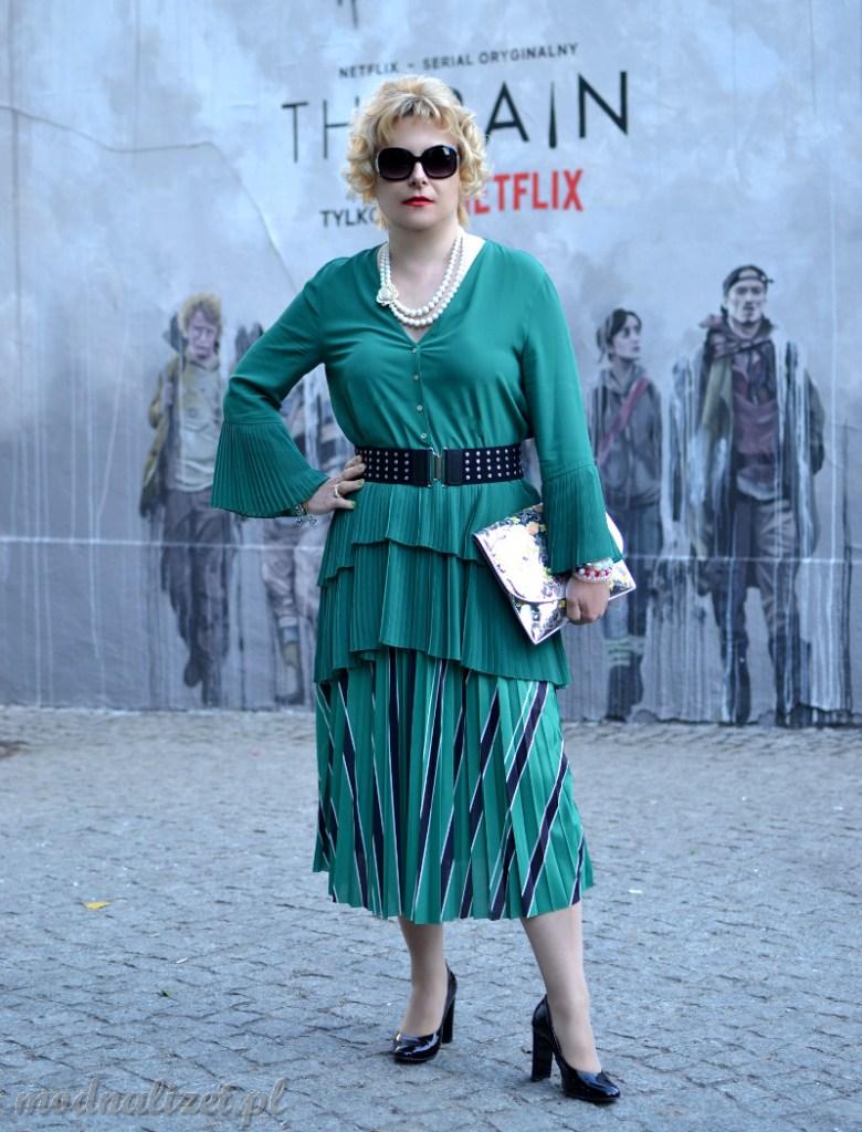 Spodnie i tunika w soczystej zieleni