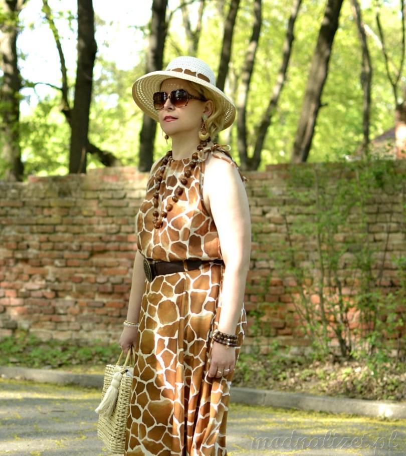 Sukienka-zwierzęcy print