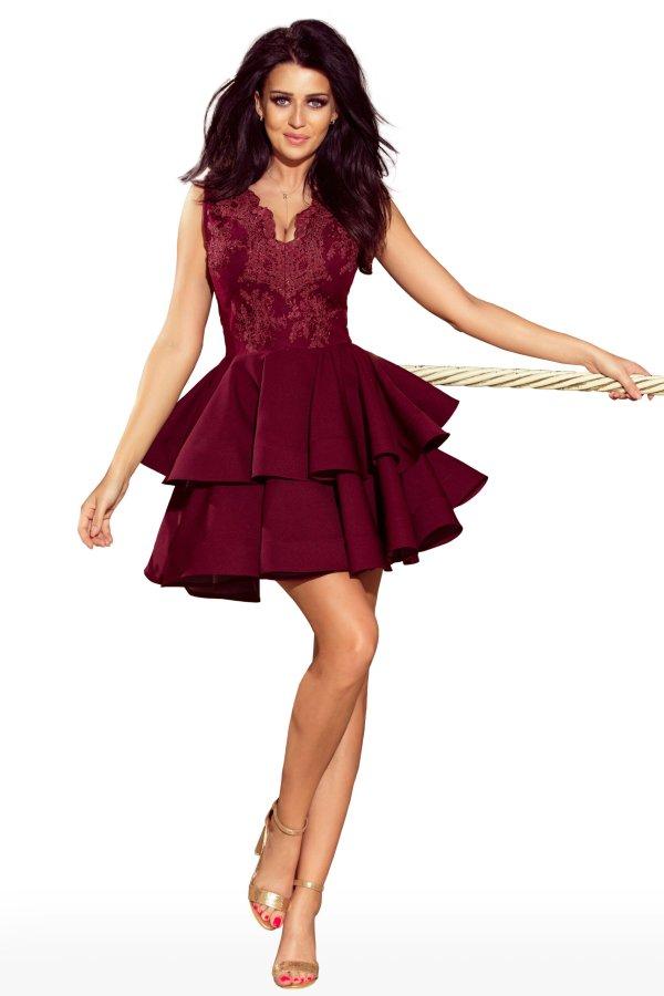 obleka-svečana-krinolina-bordo-rdeča