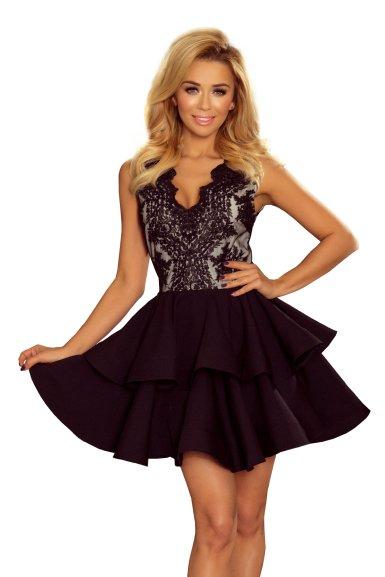 obleka-svečana-krinolina-črno-roza