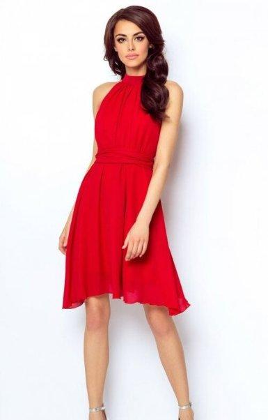 lahka-priložnostna-obleka-rdeča