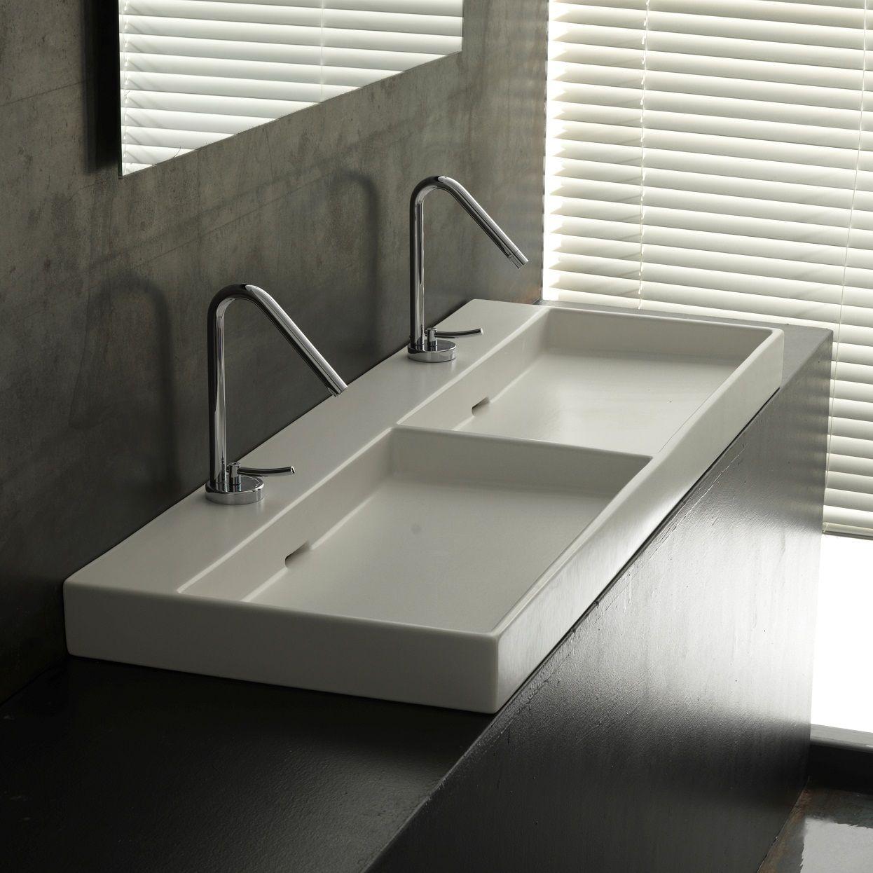 choosing a wide bathroom sink to