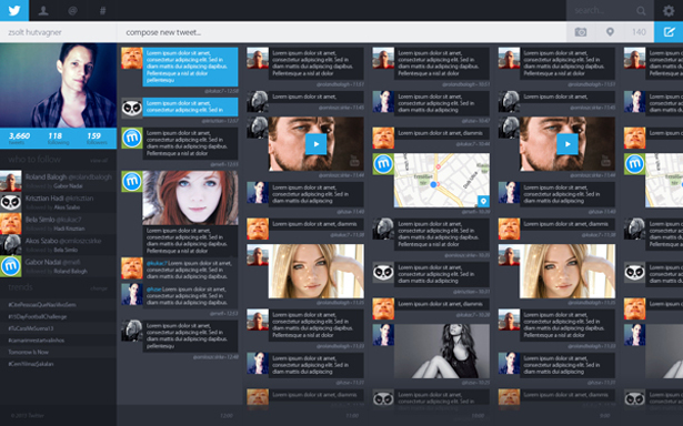 layout twitter