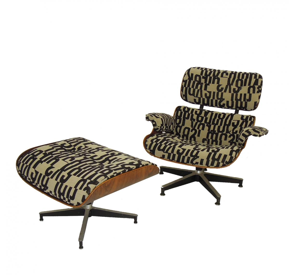where to get chairs reupholstered folding chair bed lazada nyc eames lounge 670 and ottoman 671 reupholstery in brooklyn reupholster maharam fabric mod