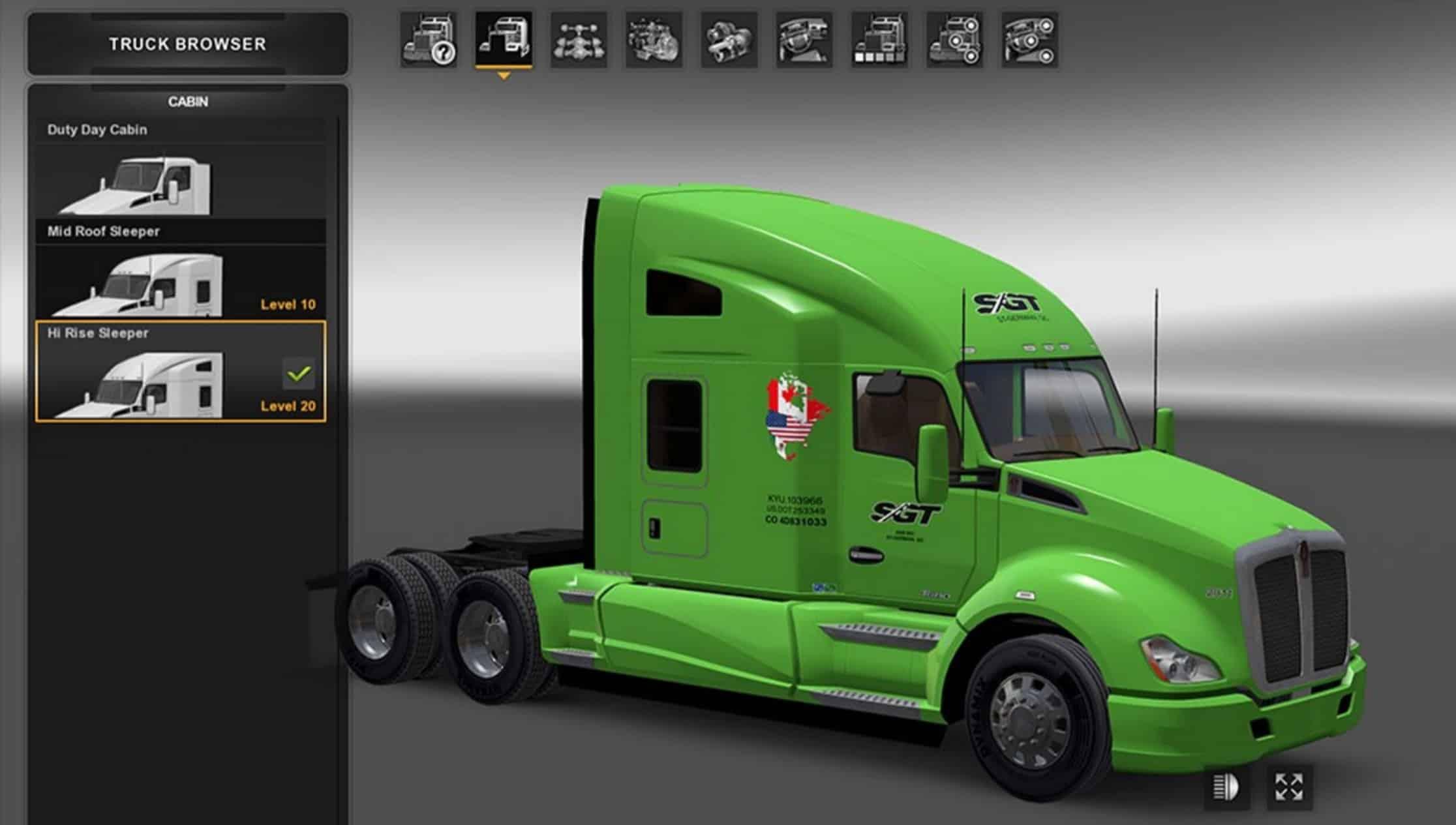 SGT 2000 For Kenworth T680 Skin American Truck Simulator