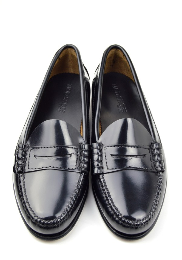 Chantelle Ladies Leather Penny Loafer Black