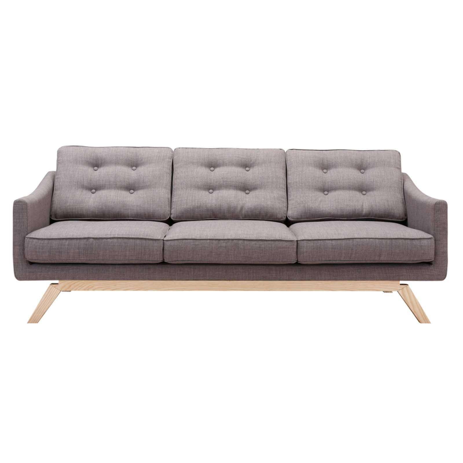 Barsona Linen Sofa, Gray