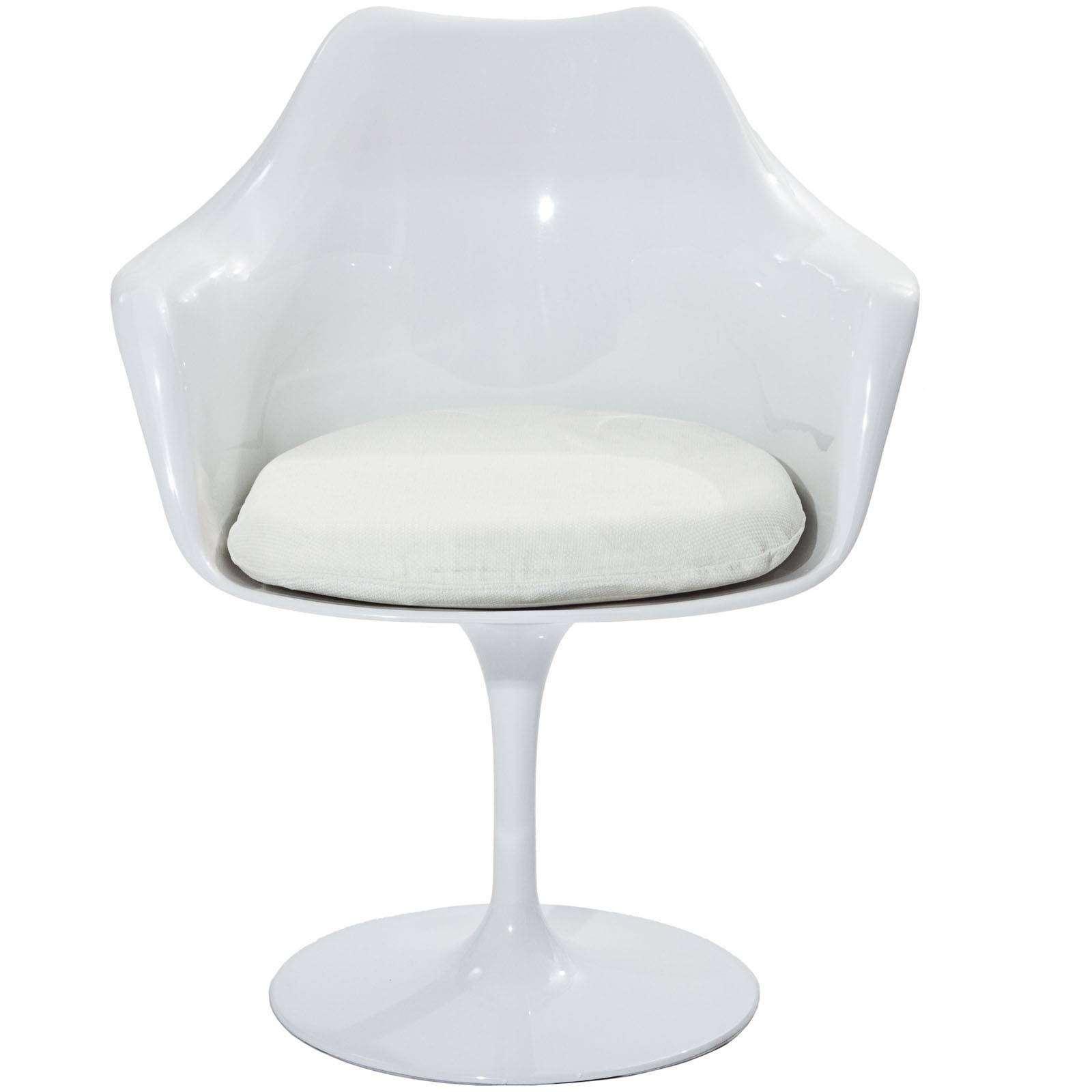 white chaise lounge chair razer gaming eero saarinen style tulip arm