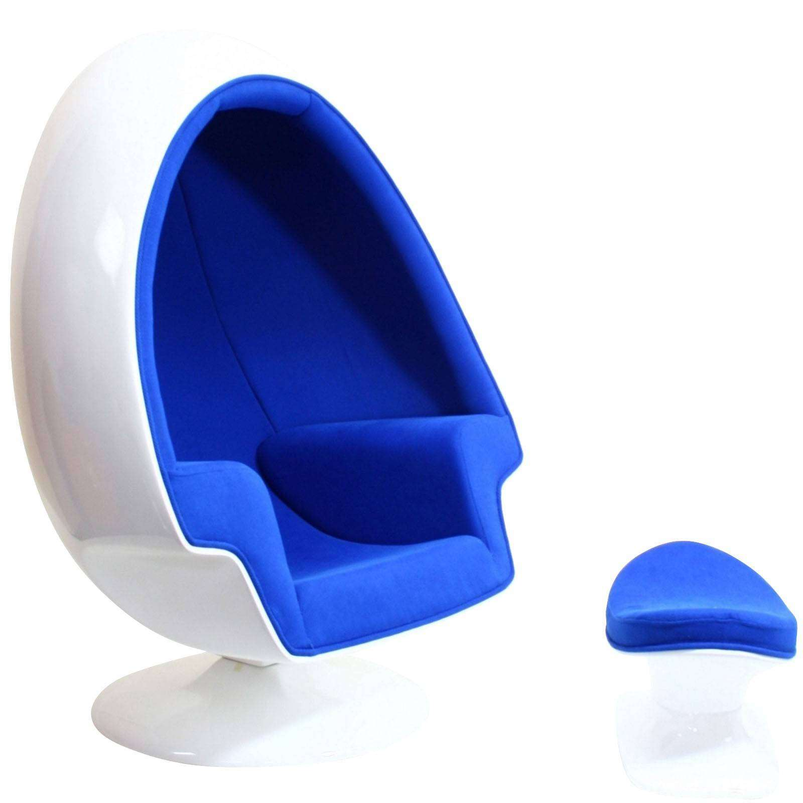 blue egg chair sex bean bag eero aarnio alpha shell and ottoman