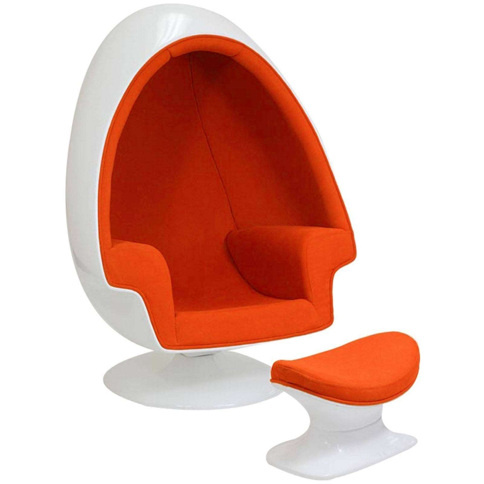 Eero Aarnio Alpha Shell Egg Chair  Ottoman