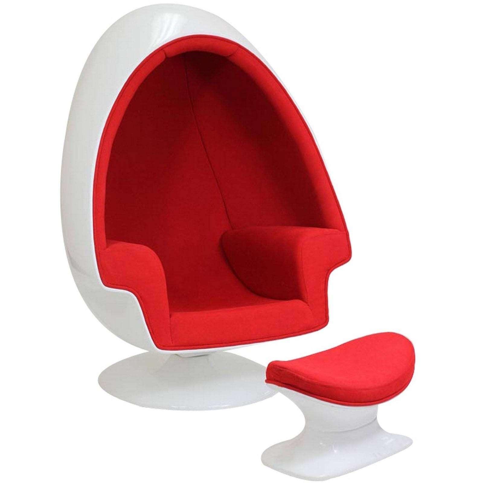 fiberglass shell chair fishing lawn eero aarnio alpha egg & ottoman