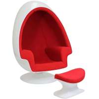 Eero Aarnio Alpha Shell Egg Chair & Ottoman