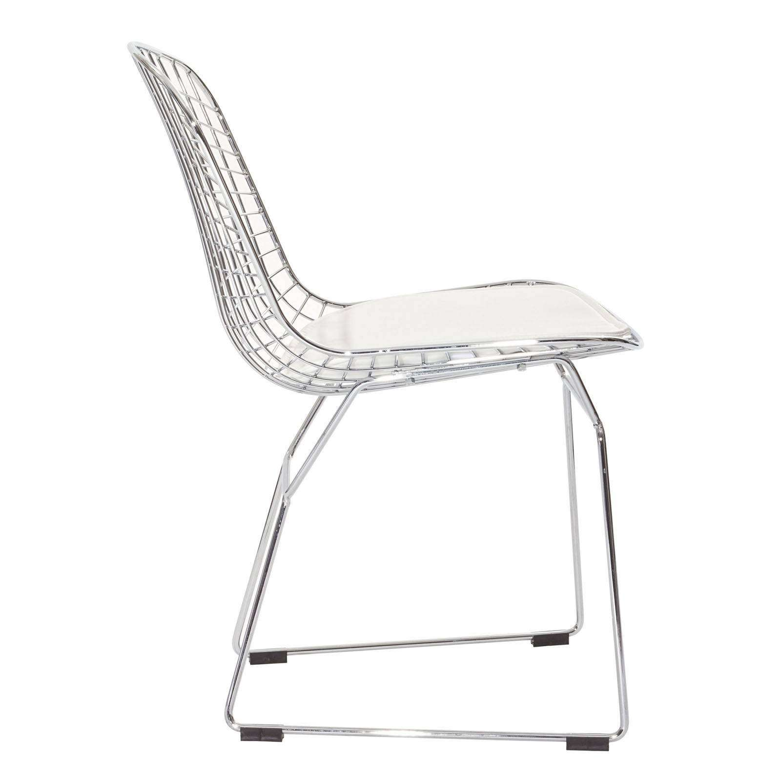bertoia style chair white folding office chairs padded harry side
