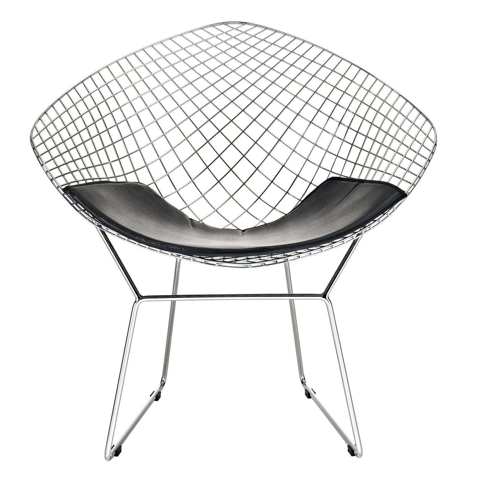 diamond chair replica ottoman bertoia style wire