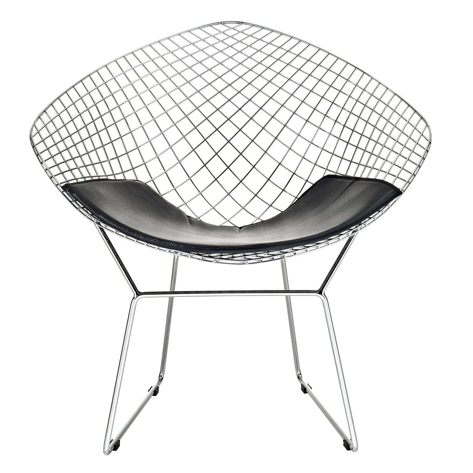bertoia style chair double folding with umbrella diamond wire