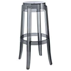 Ghost Chair Bar Stool Upholstered Chairs With Wooden Arms Philippe Starck Style Charles