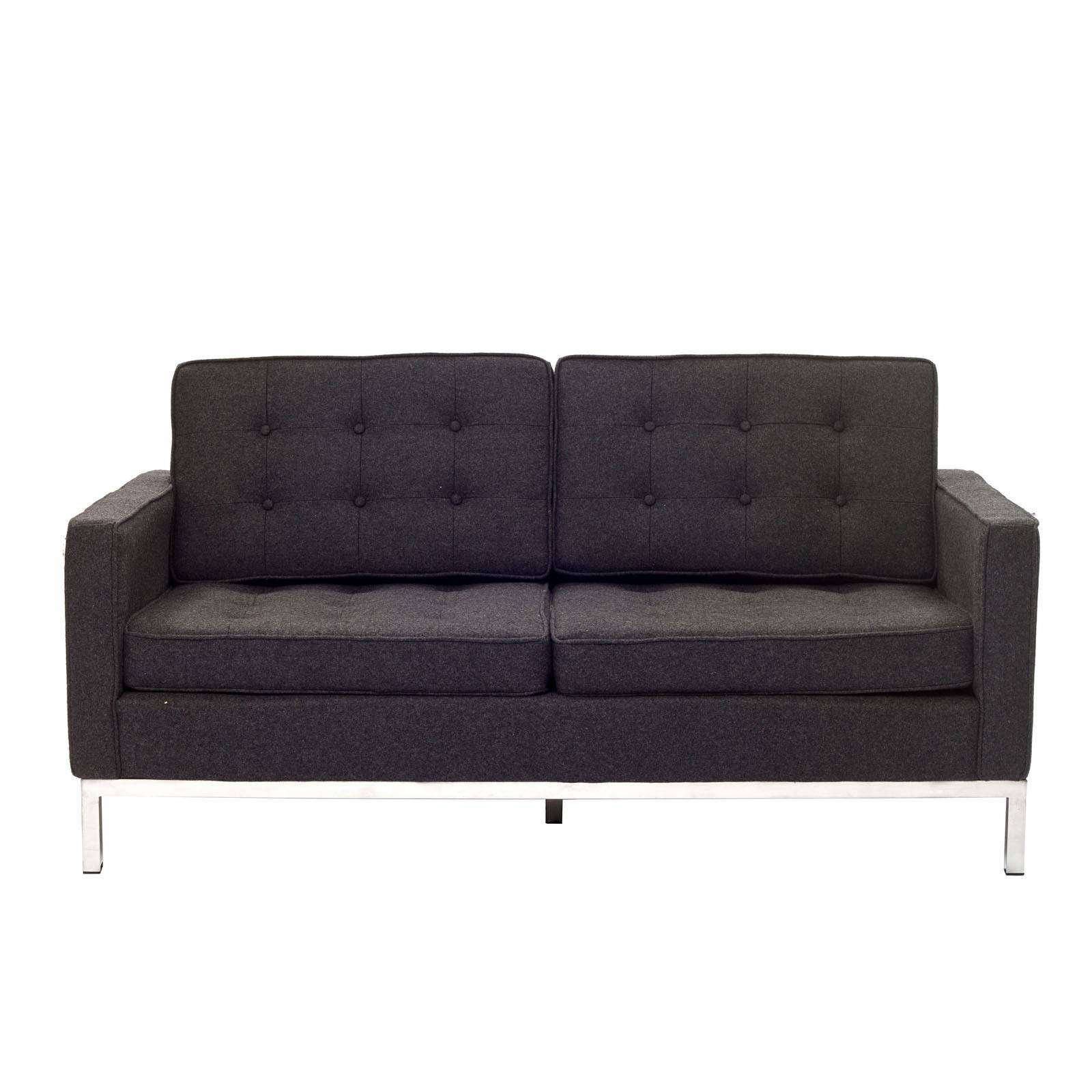noguchi sofa reproduction sam ulhasnagar east maharashtra florence knoll style loveseat couch wool