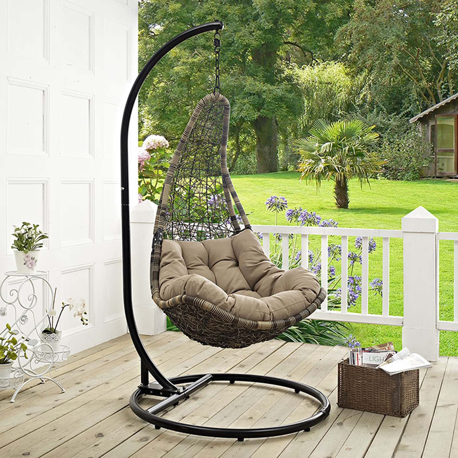 Modterior Outdoor Outdoor Chairs Abate Outdoor Patio Swing Chair