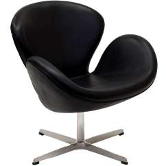 Arne Jacobsen Swan Chair Bungee Office Leather
