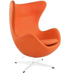 Orange Egg Chair Automatic Rocking Arne Jacobson Style Leather