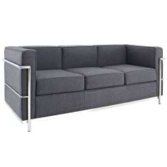 Florence Knoll Sofa Review Individual 2 Piece T Cushion Slipcover Le Corbusier Style Lc2 Couch - Wool