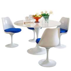 Tulip Table And Chairs Dutailier Rocking Chair Cushions Eero Saarinen Style Dining Set