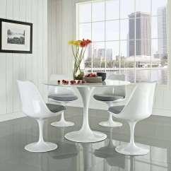 Tulip Dining Room Chairs Steel Chair Gst Rate Eero Saarinen Style Set