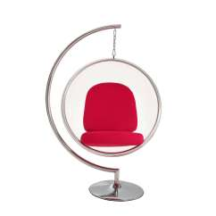 Bertoia Style Chair White How To Make A Folding Cover Eero Aarnio Bubble W/ Stand