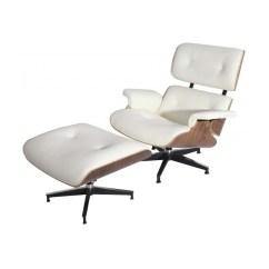 White Eames Lounge Chair Replica Fold Out Ottoman Modterior Usa