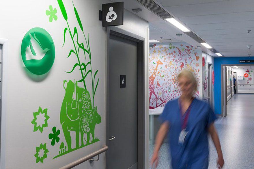 decoración de hospitales