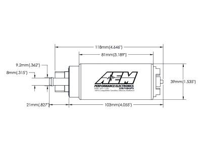 AEM 50-1200 320LPH High Flow E85 Compatible In-Tank Fuel