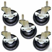 Rubber Ball Bearing Office Chair Caster Wheel Tire
