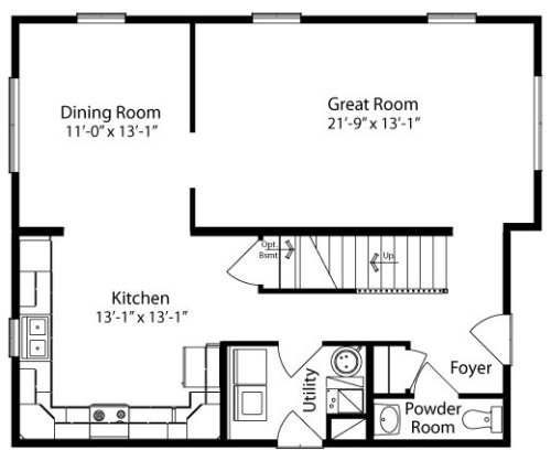 Floor Plans Kitchen Layout