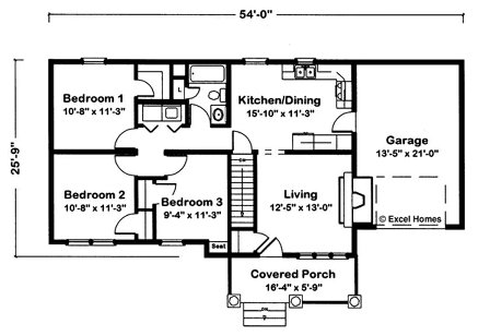 House Plans 3 Bedroom Ranch moreover  on excel modular homes independence