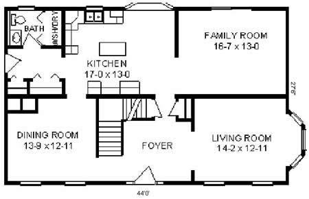 T245433-1 by Hallmark Homes Two Story Floorplan