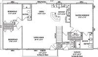Mankato II by Wardcraft Homes Ranch Floorplan