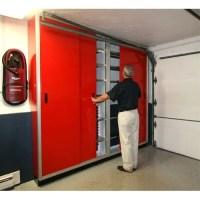 Aluminum Garage Sliding Door Cabinets | Moduline Cabinets