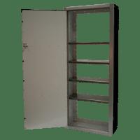 Wheel Well Aluminum Storage Trailer Cabinets   Moduline