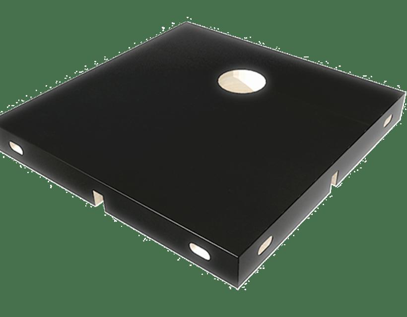 Modul s rupom za kabliranje kao opcionalni dodatak modularnom radnom stolu Modulos