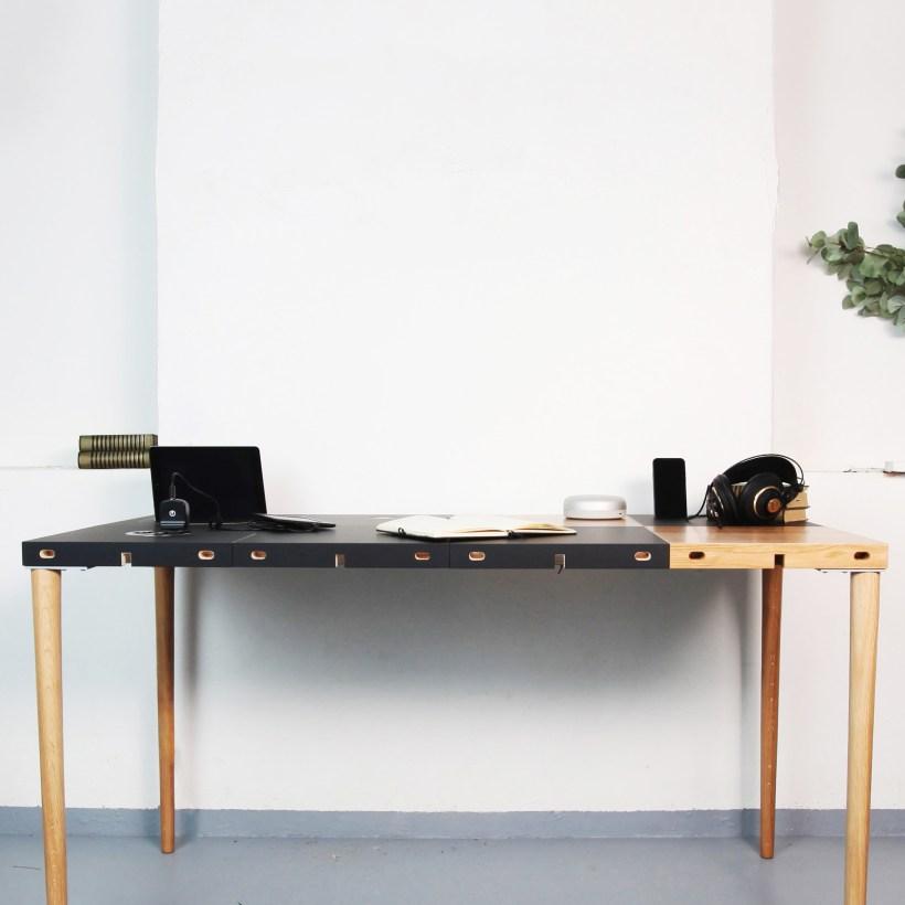 Modular modularni stol koji se prilagođava prostoru u kombinaciji drvenog i nano materijala