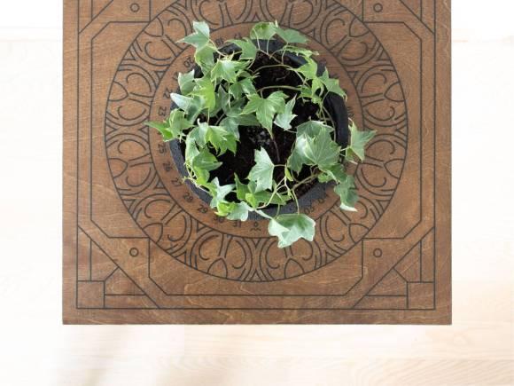 Površina Botanical Temple stolića s kalendarom zalijevanja biljke