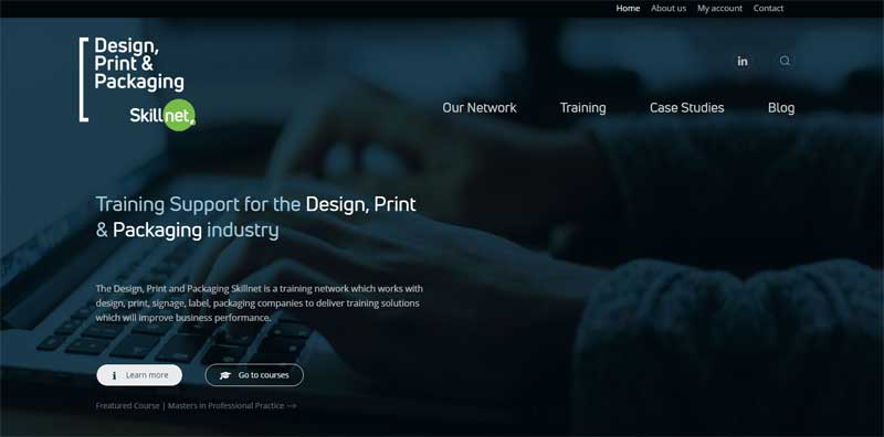 New Design, Print & Packaging Skillnet Website