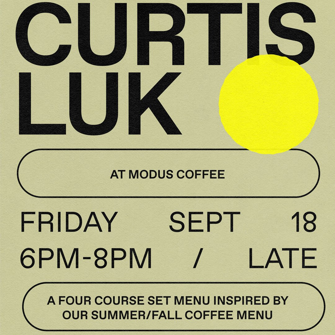 Dinner & tasting menu with Curtis Luk