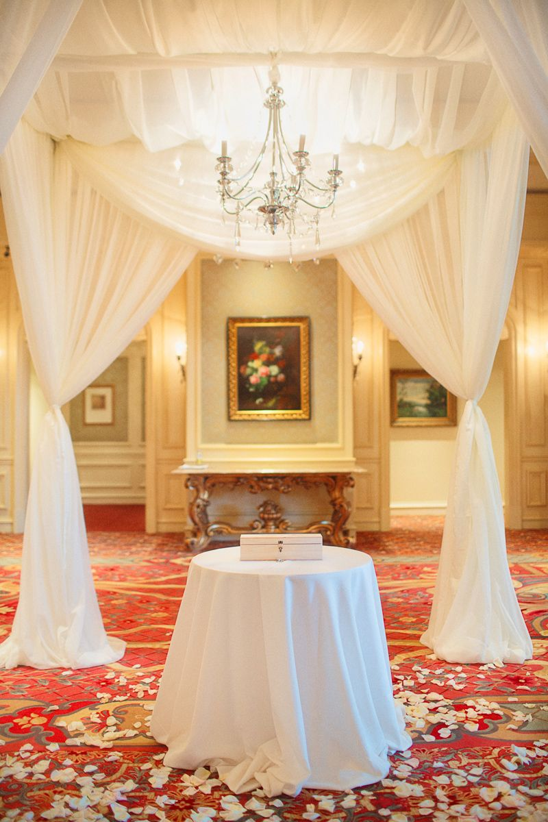 simply elegant chair covers and linens wheelchair entrance romantic ballroom wedding from binaryflips photography - modwedding